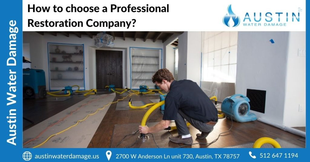 How to choose a Professional Restoration Company